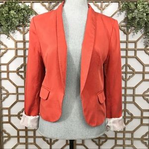 Ann Taylor LOFT Orange Open Blazer
